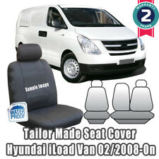 New Hyundai iLoad Tailor Made Car Seat Covers 2008-on Front Row Black Color