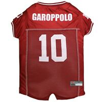 Jimmy Garoppolo #10 San Francisco 49ers Licensed NFLPA Dog Jersey Sizes XS-XL