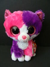"""Nwt Ty Beanie Boos 6"""" Pellie Cat Kitty Claire's Exclusive Boo 2014 Pink Sparkly"""