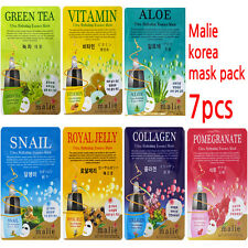 7pcs Malie Korean Essence Facial Mask Sheet, Moisture Face Mask Pack