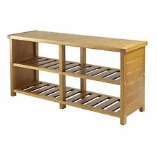 Winsome Wood 33348 Keystone Shoe Bench Closet Accessory, Teak