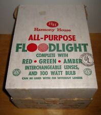 Vintage HH HARMONY HOUSE All Purpose Floodlight-Christmas-Red Green Amber Metal