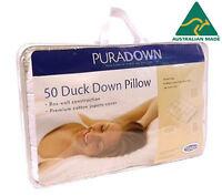 Puradown Australian 50% Duck Down Chamber Standard Size Pillow RRP $149
