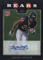 2008 Topps Chrome Rookie Autographs #TC191 Matt Forte RC Auto