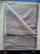 Boho furnishing fabric Tuscan stripe red grey natural fibres 150cm wide 1m+