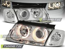 Headlights For VW PASSAT B5 3B 11.96-08.00 ANGEL EYES CHROME