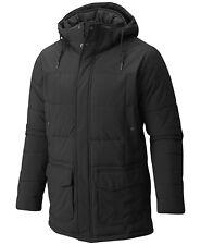 New Columbia Men's Short Sands Thermal Coil Black Hooded Full Zip Parka Jacket S