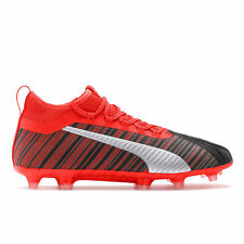 PUMA Official Mens One 5.2 Firm Ground Football Boots Shoes Black