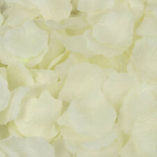 200Pc Silk Rose Flower Petals The wedding arrangement party Confetti Favor white