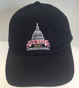 US Open 2011 Congressional Golf Hat Cap USGA Member Men OSFA Blue Bethesda MD