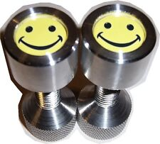 """Two Hole Pins. 1/2"""" to 1-1/8"""" Knurled, small, Aluminum, Smily Face. By Jermamma."""