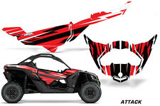 UTV Decal Graphics Kit Wrap For Can-Am Maverick X3 DS RS 2016-2018 ATTACK RED