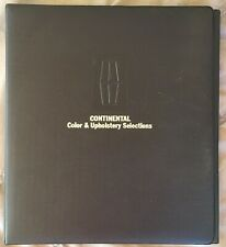 DeLuxe 1971 Continental Mark III & Lincoln dealer color, upholstery fabric 71