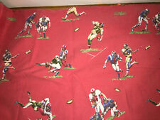 Pottery Barn Kids Football TWIN Sheet Set Red Flat, Fitted and Pillowcase