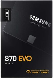 "Samsung 870 EVO 4TB 2.5"" SATA III Internal SSD (New) Black"