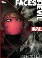 Super Rare 412CC Baron Zemo Faces Of Evil FOE Week 3 Motion Topps Marvel Collect