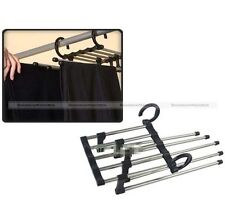 5 In 1 Closet Organizer Space Saver Retractable Hanger Rack for Pants Trousers