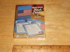 UNITED STATES of AMERICA USA Flash Cards w/Info About 50 States Reversible Side