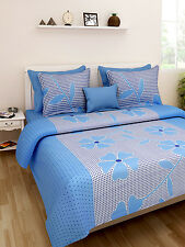 Homefab India Cotton Double Bed Sheet with 2 Pillow Covers (DBS125)