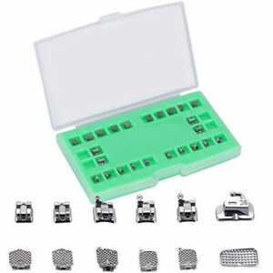 20Set Dental Orthodontic Self-Ligating Bracket Ortho Brace Mini MBT 022 Hook 345