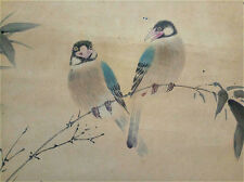 "Excellent Chinese 100% Hand Scroll Painting ""birds & flowers"" By Yan Bolong 颜伯龙W"