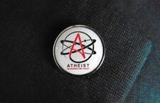 "Atheist Atheism Symbol ""IN SCIENCE WE TRUST"" Metal 0.75"" Lapel Hat Pin Tie Tack"