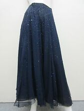 ARMANI COLLEZIONI Made in Italy Blue Beaded Embellished Maxi Skirt w/Slip 6