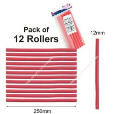 Bendy Rollers Hair Hairdressing Curling PACK OF 12 RED ROLLERS Twist Wave Style