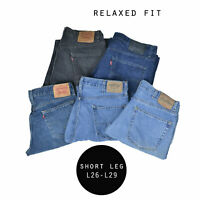 LEVIS RELAXED FIT SHORT LEG JEANS DENIM GRADE A W30 W32 W34 W36 W38 W40