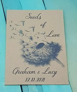 Personalised Seed Packets Wedding Favours, Small Gifts, Bespoke Designs Avail