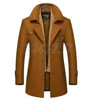 Mode Herrenmode Jacke Mantel Stehkragen Winterjacke Slim Trenchcoat Gr:M-3XL