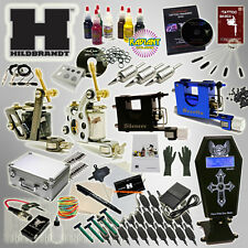 HILDBRANDT Professional Complete Tattoo Kit 4 Machine COIL ROTARY Gun Set INK