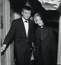 PHOTO VINTAGE : Johnny HALLYDAY & Marlène DIETRICH 1962 AUBERT-PHILIPS OLYMPIA