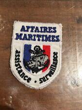 Ecusson Affaires Maritimes Assistance Surveillance