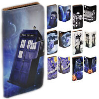 For Samsung Galaxy Series Police Box Theme Print Wallet Mobile Phone Case Cover