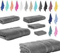 10 tlg. Set Frottee 2x Wasch + 2x Gäste + 4x Handtuch + 2x Dusch 100% Baumwolle