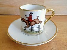 VINTAGE AMERICAN ABERCROMBIE AND FITCH H/P DEMI TASSE COFFEE CAN AND SAUCER