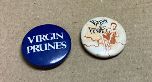 Virgin Prunes Goth rock Indie Badges 1980s Original Red Moon