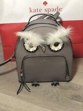 Kate Spade Star Bright Owl Tomi Cityscape Leather Mini Backpack MSRP $329