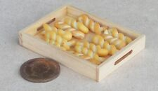 1:12 Scale 12 Loose Bread Twists In A Wooden Tray Tumdee Dolls House Bakery
