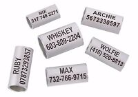 Personalized ID Tag Bead for Rolled Dog Cat Collars Laser Engraved