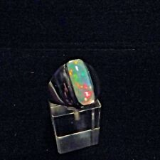 Ring, Gr.59  Silber 925 mit einem Opal Cabochon aus Äthiopien