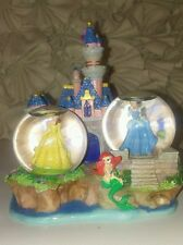 Disney Princesses Ariel Belle And Cinderella Double Snow Globe