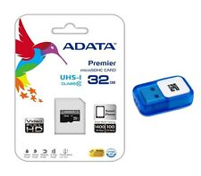 ADATA 32 GB Class 10 MicroSDHC Memory Card for Galaxy S4 3 Note 3 + Card Reader