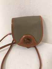 Vintage Dooney and Bourke Mini Small Tan Crossbody Shoulder Saddle Bag  Rare