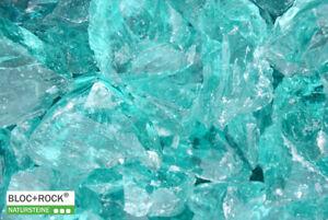 Glasbruch ocean blue türkis Glasbrocken Glasstein 50/150 Gabionenstein