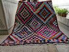 Handmade Vintage Moroccan Berber Rug Azilal Carpet Beni Ourain Tribal Rug