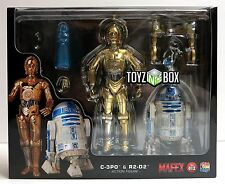 "In STOCK Medicom Toy Star Wars ""C-3PO & R2-D2"" SET 012 MAFEX Action Figures"
