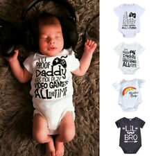 Newborn Infant Baby Girl&Boy Short Sleeve Letter Romper Bodysuit Clothes Outfits
