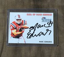 New England Patriots Marc Edwards CUSTOM  autographed Card - Super Bowl Champion